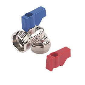"Angled Washing Machine Valve Elbow 15mm x ¾"" BSP"