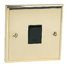 20A DP Switch Victorian Brass