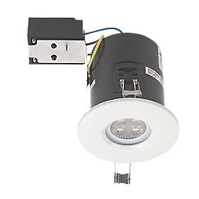 JCC Lighting Fire Rated Fixed LED Shower Downlight IP65 White 5W