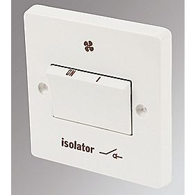 Crabtree 6AX 3-Pole Fan Isolator Switch White