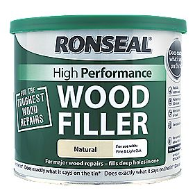 ronseal high performance wood filler natural 550g wood. Black Bedroom Furniture Sets. Home Design Ideas