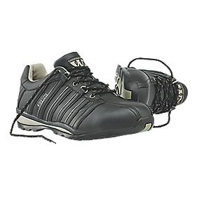 Worksite Industrial Wear Safety Trainers Black Size 9