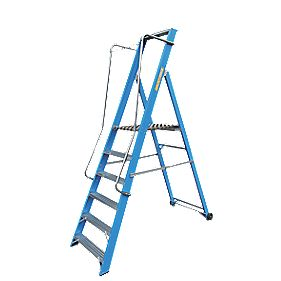 Lyte Widestep Fibreglass Platform Step Ladder 6-Tread 2.26m