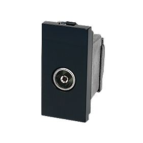 Screened Single IEC Coax Outlet Module Black