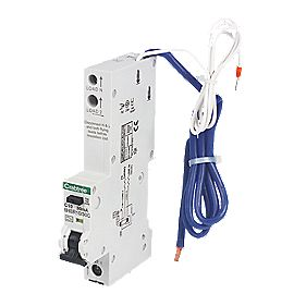 Crabtree 10A 30mA 1 Pole + Neutral Type A C Curve RCBO