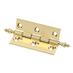 Eclipse Double Phosphor Brnz Washered Finial Hinge Pol. Brs 51 x 102mm Pk2