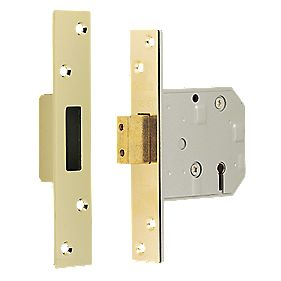 "Chubb 5-Lever BS 3621 Mortice Deadlock Brass 3¼"" (80mm)"