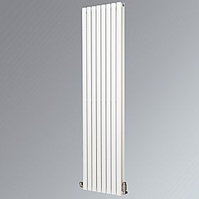 Fortuna Duplex Vertical Designer Radiator White 1800 x 472mm 5003BTU