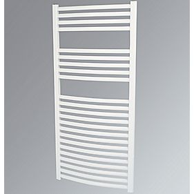 Kudox Curved Towel Radiator White 600 x 1100mm 631W 2153Btu