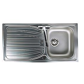 Astracast Alto Kitchen Sink Stainless Steel 1 Bowl & Reversible Drainer 980 x 510mm