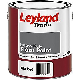 Leyland Trade Heavy Duty Floor Paint Tile Red 2.5Ltr
