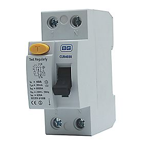RCD 40A 30mA Double Pole Type AC
