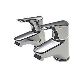 Bristan Tresco Bathroom Basin Taps Pair