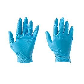 Nitrile Powder Disposable Gloves Blue Large Pack of 100