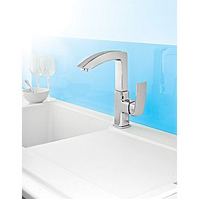 Swirl Design Side Lever Mono Mixer Kitchen Tap Chrome