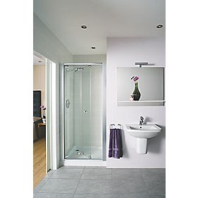 Mira Shower Enclosure Bi-Fold Door Square Silver Effect 800 x 1850mm