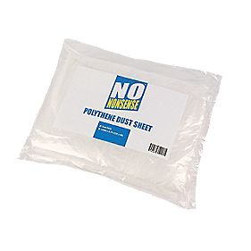 No Nonsense Polythene Dust Sheets Pack of 2