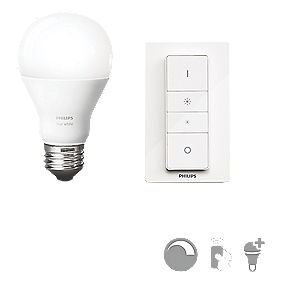 philips hue wireless dimmer light bulb kit 9w smart switches sockets. Black Bedroom Furniture Sets. Home Design Ideas