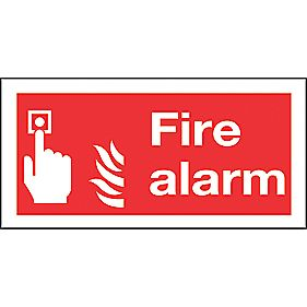 """Fire Alarm"" Sign 100 x 200mm"