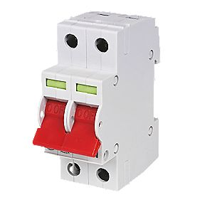 Wylex 100A Double Pole 2 Module Isolator Switch