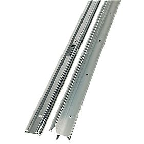 2-Part Trimline Threshold Polished Aluminium 914mm