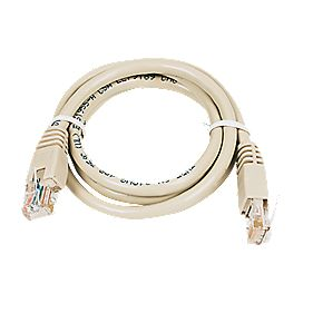 Patch Lead Ivory 1.0m Pack of 10