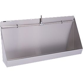 Franke Centinel Wall-Mounted Exposed Urinal S/Steel 1200 x 300 x 555mm