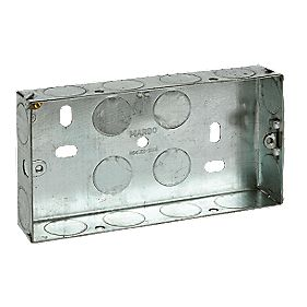 Installation Boxes Galvanised Steel 2G 25mm Pack of 10