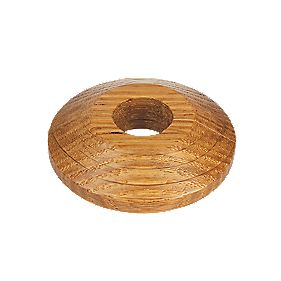Oak Real Wood Pipe Collars Pack of 2