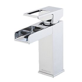 Moretti Lambert Mono Basin Mixer Bathroom Taps with Click Waste