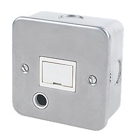 13A Fused Connection Unit & Flex Outlet Metal-Clad