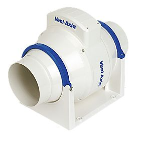Vent-Axia ACM100T W In-Line Bathroom Extractor Fan