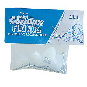 Ariel Vistalux Corrugated Mini PVC Sheet Fixings Clear Pack of 200