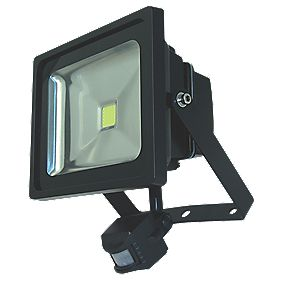 Unbranded LED SMD Floodlight with PIR 30W Grey
