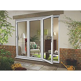 uPVC Fold & Slide Double-Glazed Patio Door LH White 1790 x 2090mm