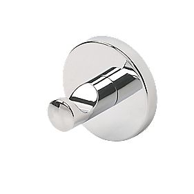 Swirl Cirque Single Bathroom Clothes Hook Chrome-Plated