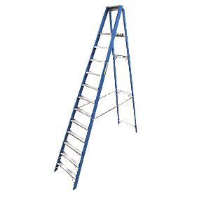 Lyte Heavy Duty Aluminium & Fibreglass Platform Ladder 12-Tread 3.38m