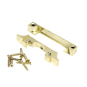 Eclipse Mortice Latch Rebate Kit Polished Brass 93mm