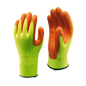 Showa Best 317 General Handling Hi-Vis Builder's Grip Gloves Yellow X Large