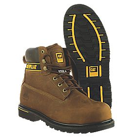 Caterpillar Holton SB Brown Safety Boots Size 12