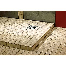 Aquadry Wetroom Tileable Square Shower Tray 800 x 800 x 40mm