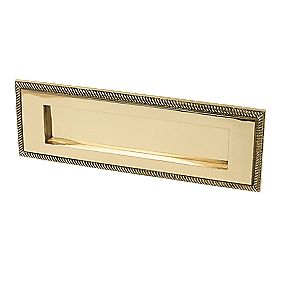 Georgian Letter Plate Polished Brass 306 x 97mm