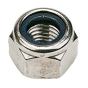 Nylon Lock Nuts A2 Stainless Steel M5 100 Pack