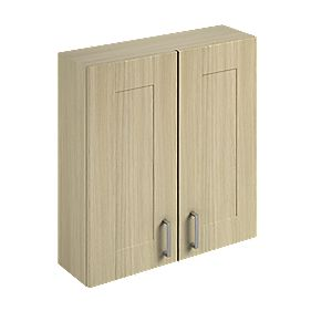 Bathroom Wall Unit Oak Shaker 600 x 200 x 660mm