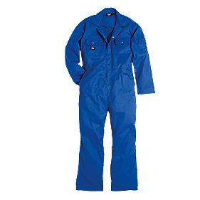 "Dickies Redhawk Economy Coverall Royal Blue Large 44-46"" Chest 30"" L"
