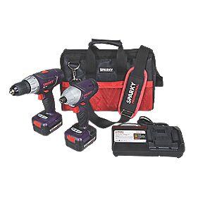 Sparky BR2 15Li/GUR 15Li 14.4V 1.5Ah Li-Ion Twin Pack Drill & Impact Driver