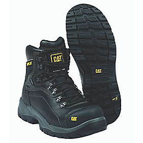 Cat Diagnostic Safety Boots Black Size 6