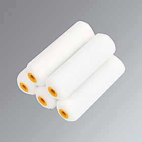 "No Nonsense Gloss Mini Roller Sleeves Foam Pile 4"" Pk5"