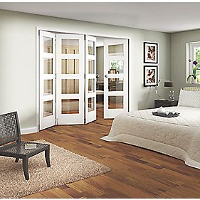 Jeld-Wen Shaker Stile & Rail 4 Panel Interior Room Divider Primed 2044 x 2552mm