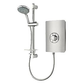 Triton Manual Electric Shower Brushed Steel Effect 9.5W